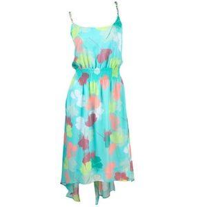 Lane Bryant multi floral high-low dress.